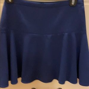 Bcbg royal / navy blue skater skirt size xxs